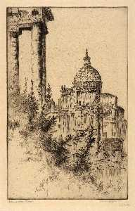 Bertha Evelyn Jaques - Columns, Roman Forum