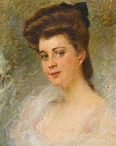Konstantin Yegorovich Makovsky - Portrait of a Lady said to be Countess Apraxine