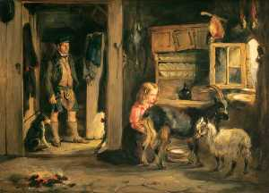 William Simson - A Goatherd's Cottage