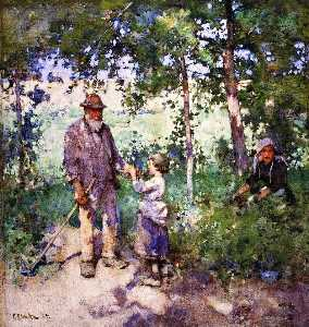 Edward Arthur Walton - Grandfather's Garden
