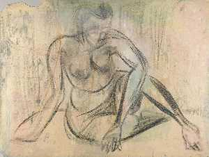 William Henry Johnson - Female Nude Leaning on Right Arm
