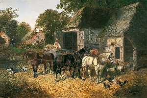 John Frederick Herring Ii - Horses in Harness