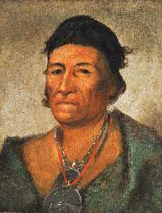 George Catlin - Ko mán i kin, Big Wave, an Old and Distinguished Chief