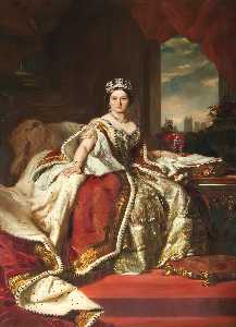 John Hanson Walker - Queen Victoria (1819–1901) (copy after Franz Xaver Winterhalter)