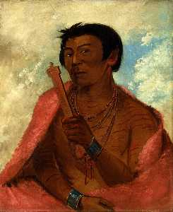 George Catlin - On sáw kie, The Sauk, in the Act of Praying