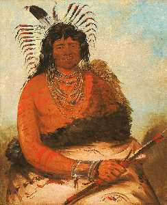 George Catlin - Háh nee, The Beaver, a Warrior