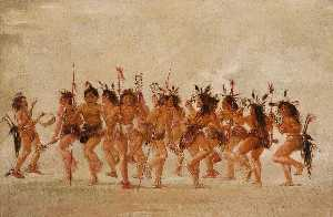 George Catlin - Beggar's Dance, Mouth of Teton River