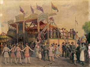 Frederick Dudley Walenn - Hampstead Heath Fair