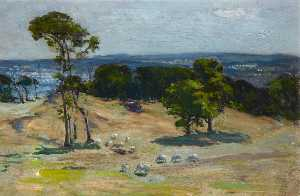 John Campbell Mitchell - Edinburgh from Corstorphine Hill