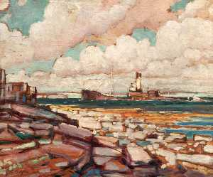 Geoffrey Stephen Allfree - Submarined Ship Coming into Kirkwall