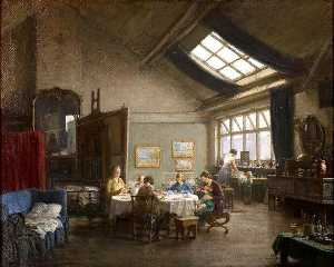 Frederick William Elwell - Refugees in My Studio