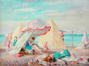Philip Connard - Bathers at Dieppe