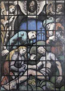 Brian Dick Lauder Thomas - The Entombment (cartoon for the new shrine of the Order of the British Empire in St Paul's Cathedral)