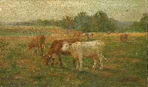 Edward Mitchell Bannister - Cows