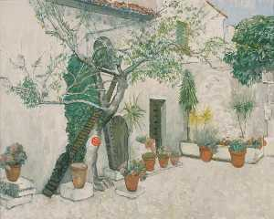Geoffrey Scowcroft Fletcher - House with Cat Walk, Arles, France