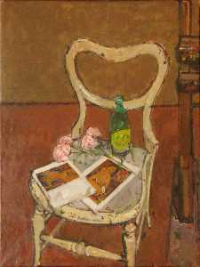 Ruskin Spear - Modigliani Reproductions with Paper Flowers