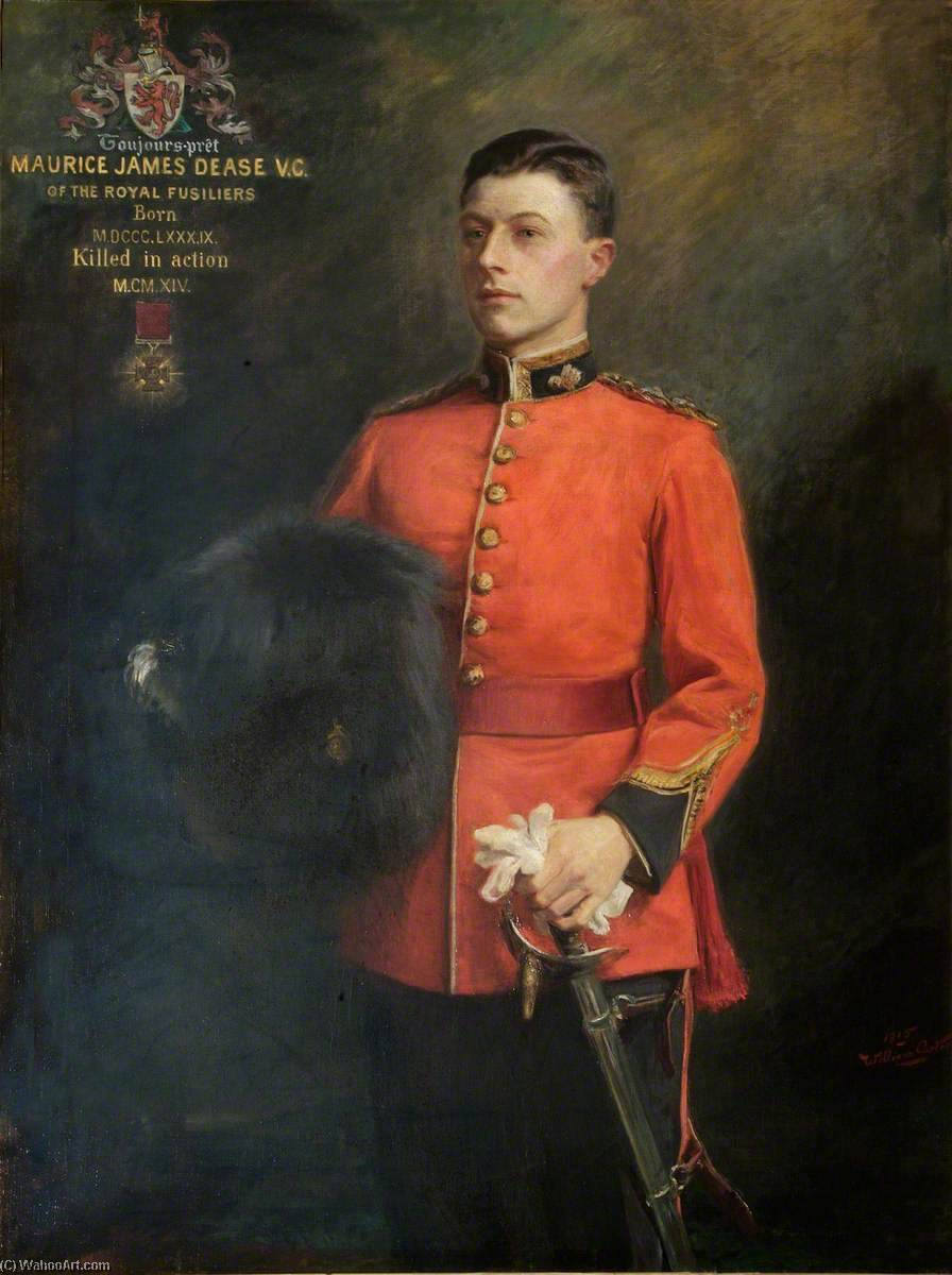 famous painting Lieutenant Maurice James Dease, VC of William Carter