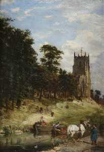 Joseph Kennedy - St Mary's Church and the Canal, Kidderminster, Worcestershire