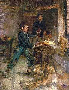 Henry Ossawa Tanner - Study for the Young Sabot Maker