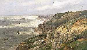 William Henry Borrow - Hastings, East Sussex, from the East Cliff