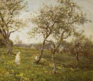 James Aumonier - The Orchard