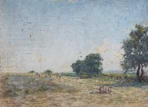William Darling Mckay - Haymaking under a Blue Sky