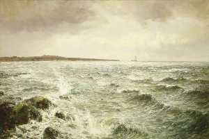 John Falconer Slater - View of Whitley Bay, Northumberland