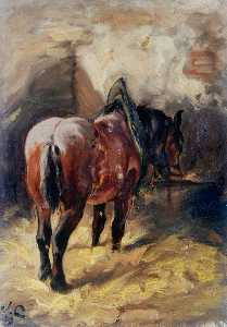 William Henry Charlton - Horse, Rear View