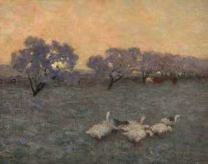 William Edward Stott - Sunrise in Winter