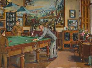 Marie Louise Roosevelt Pierrepont - Billiard Room, Thoresby Hall