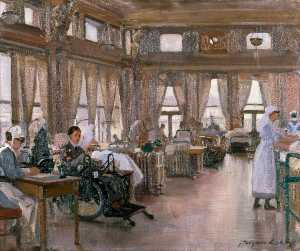 John Hodgson Lobley - The Special Surgical Auxiliary Hospital at the 'Star and Garter', Richmond The Dining Room
