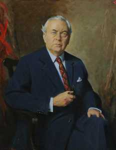 Cowan Dobson - The Right Honourable Sir Harold Wilson (1916–1995), Lord Wilson of Rievaulx, Fellow, Prime Minister (1964–1970 1974–1976)