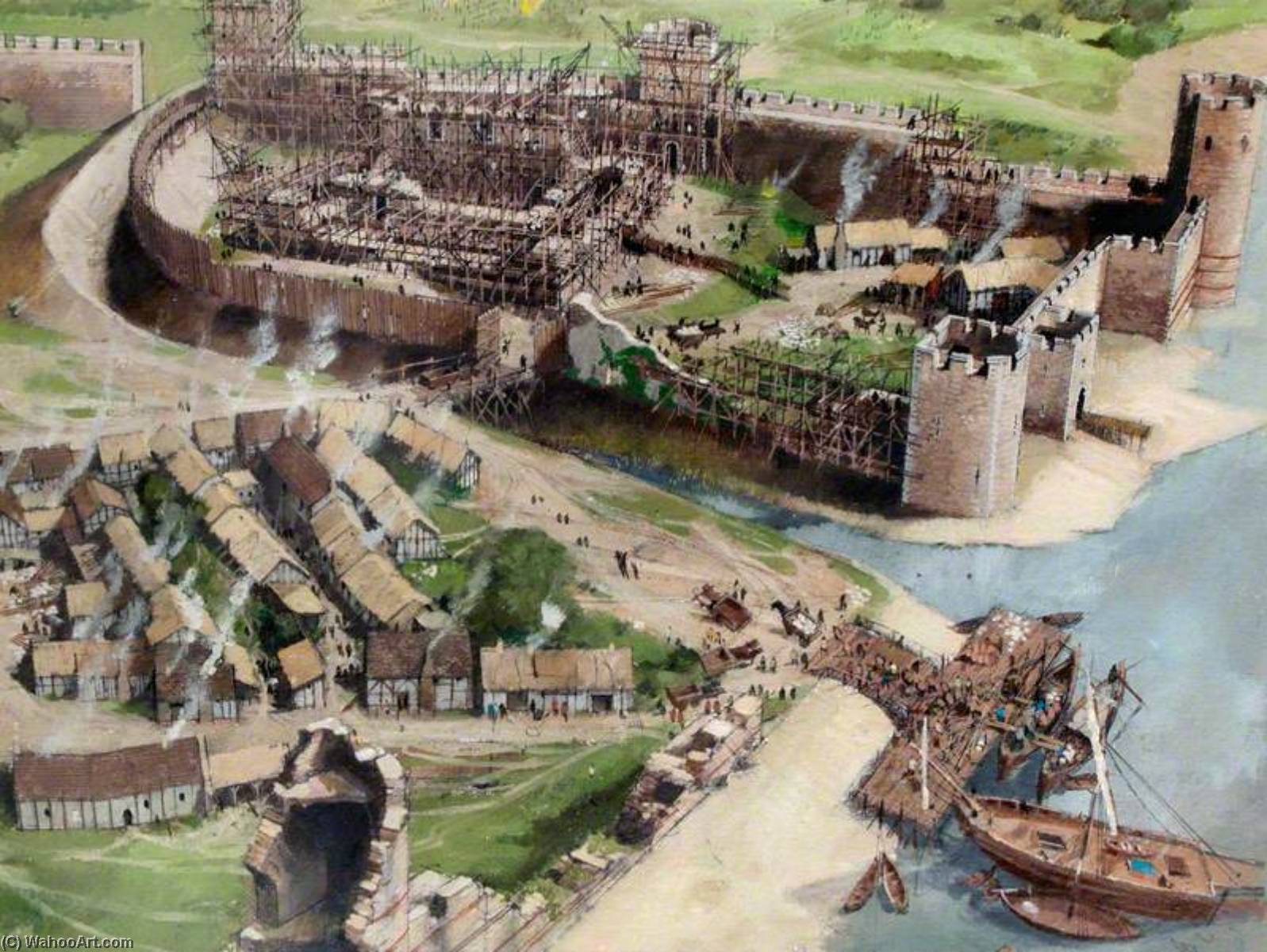 famous painting Artist's Impression of the Tower of London Site, 1080 of Ivan Lapper
