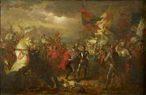 Benjamin West - Edward III (1312 1377) with the Black Prince (1330 1376) after the Battle of Crecy (1346)