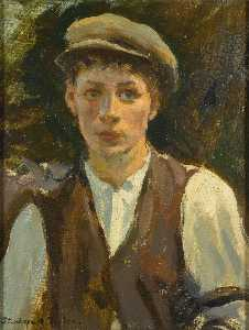 Stanhope Alexander Forbes - Study of a Young Man