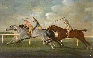 John Cordrey - 'Gimcrack' Beating Two Other Horses at Epsom