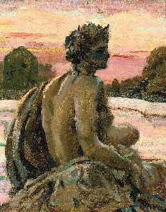 James Carroll Beckwith - One of the Figures at the Parterre d'Eau