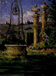 James Carroll Beckwith - In the Gardens of the Villa Palmieri
