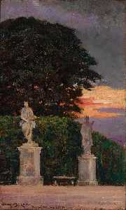 James Carroll Beckwith - Corner of the Terrace, Versailles
