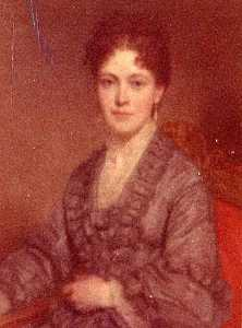 George Peter Alexander Healy - Mrs. Franklin Simmons (Emily Libbey), (painting)