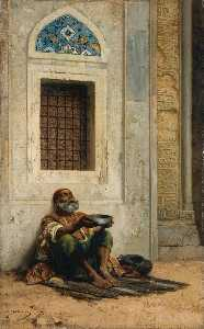 Stanislaus Von Chlebowski - Mendicant at the Mosque door