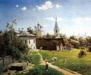 Vasily Dmitrievich Polenov - A Yard in Moscow