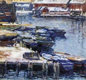 Charles Salis Kaelin - Docks in Winter