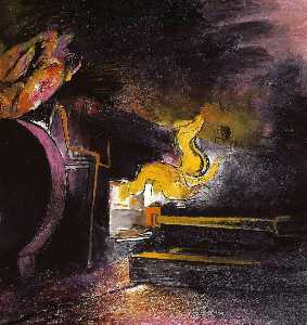 Graham Vivian Sutherland - Feeding a Steel Furnace