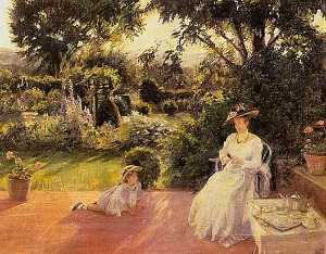 Lydia Field Emmet - Grandmother's Garden, (painting)