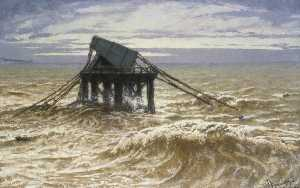William John Hennessy - Relic of the Chain Pier, Brighton, East Sussex