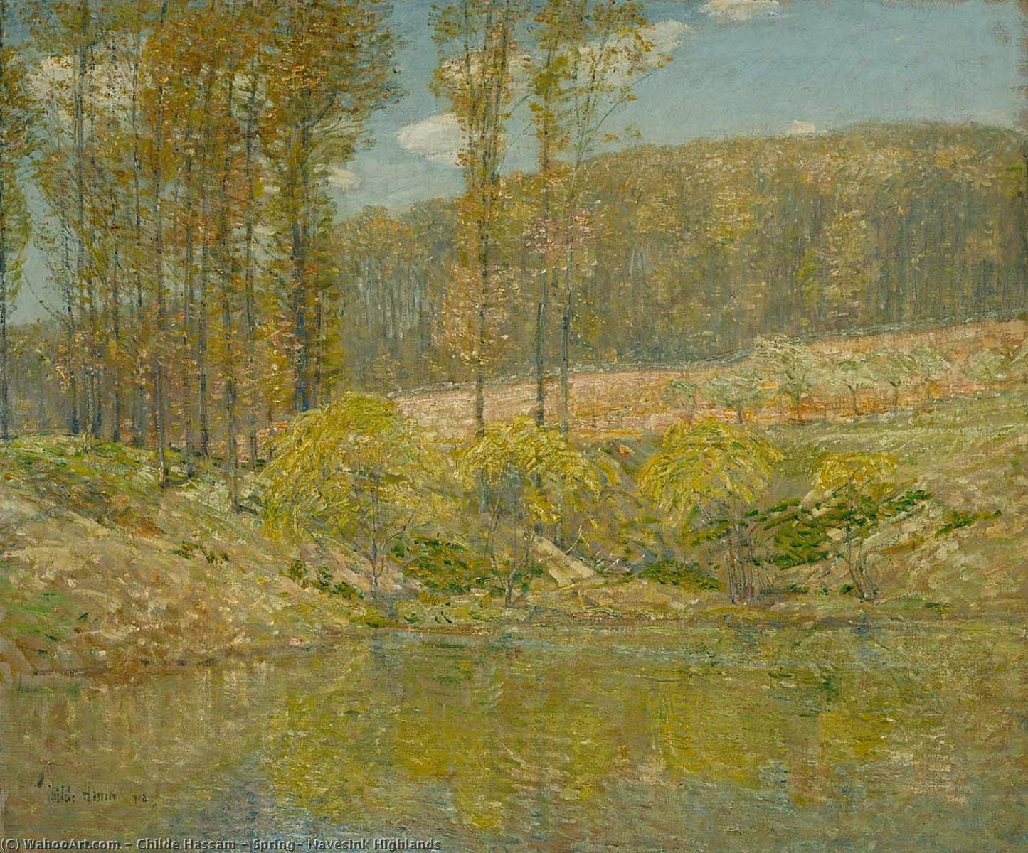 famous painting Spring, Navesink Highlands of Frederick Childe Hassam