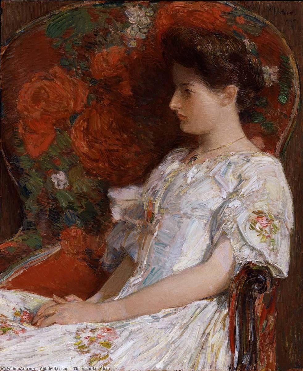 famous painting The Victorian Chair of Frederick Childe Hassam