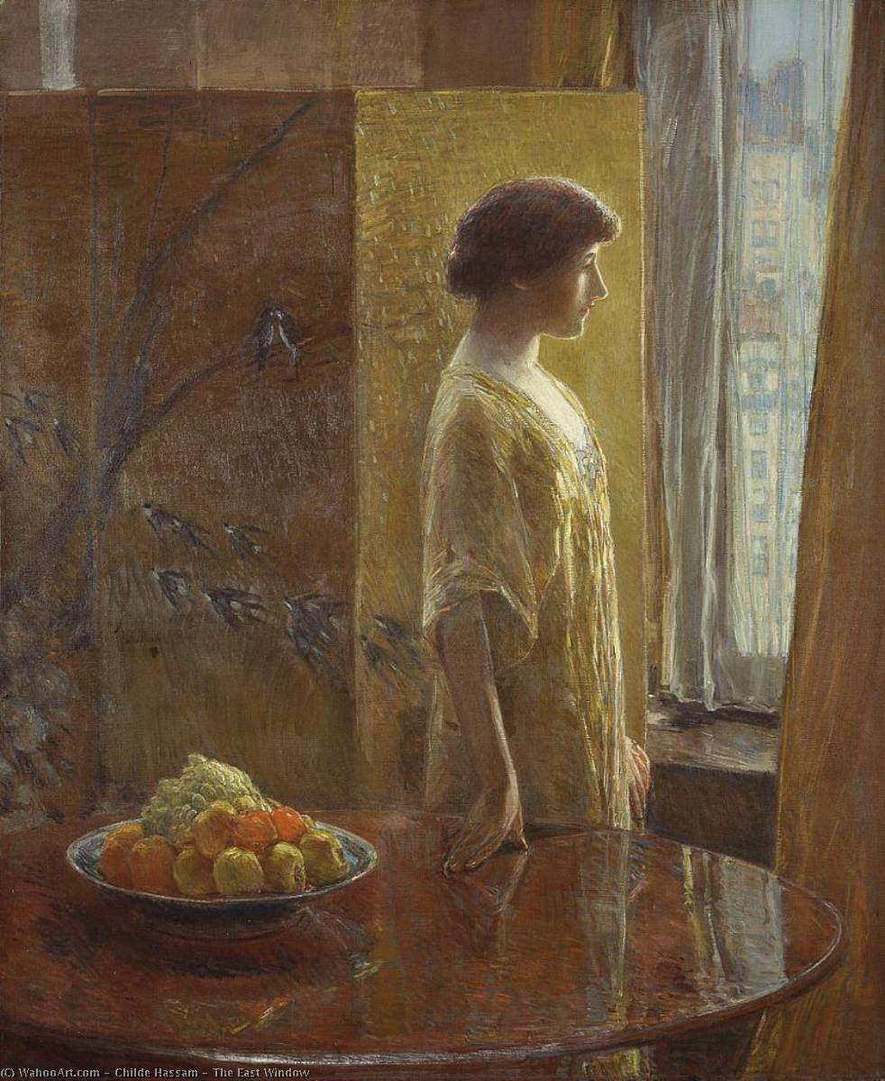 famous painting The East Window of Frederick Childe Hassam