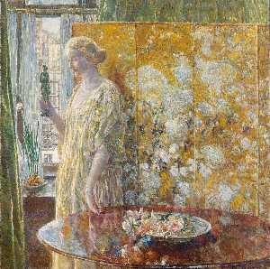 Frederick Childe Hassam - Tanagra (The Builders, New York)
